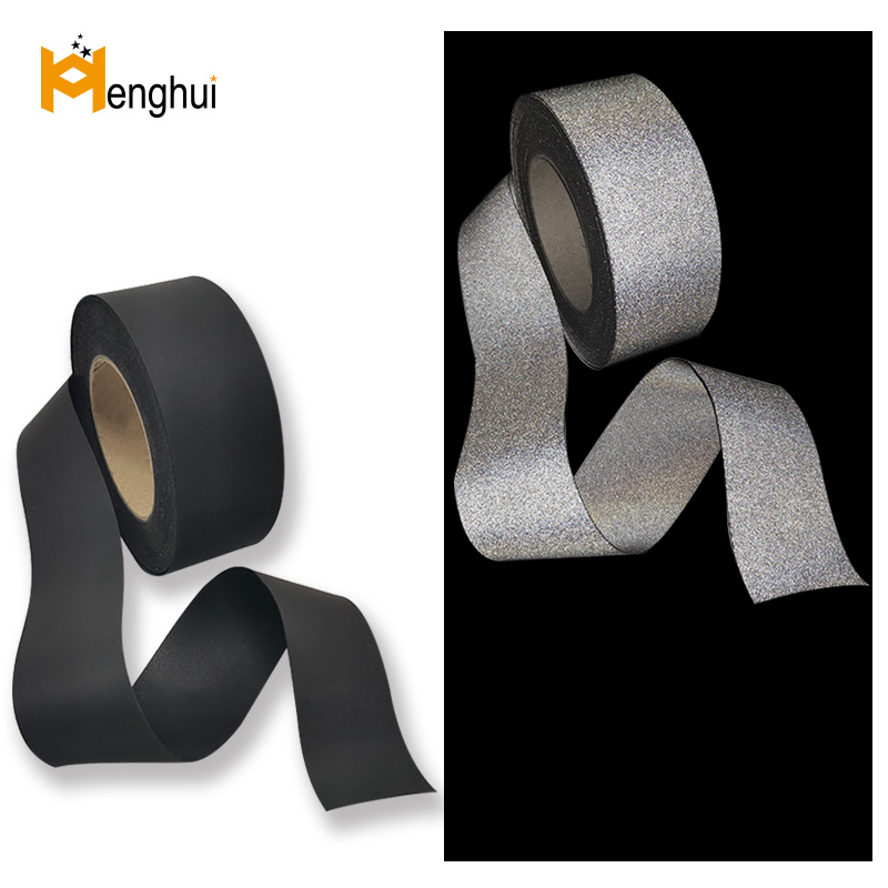 HE402 85%nylon15%spandex double side elastic reflective fabric 450cd/(lx·m²)